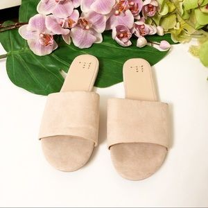 A NEW DAY | PINK FAUX SUEDE SLIDE ON SANDALS